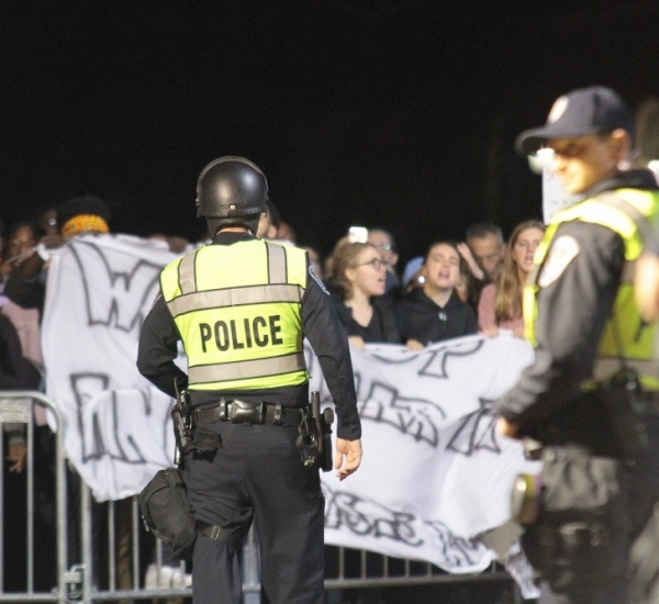 UNC Graduate students protest policing