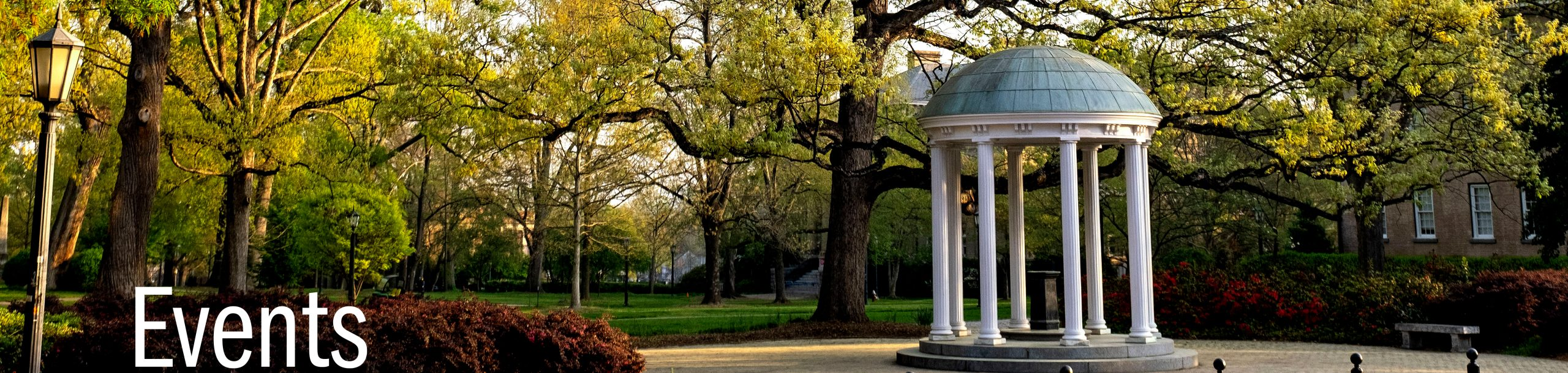 Caption - Events. Image of Old Well on UNC - Chapel Hill Campus